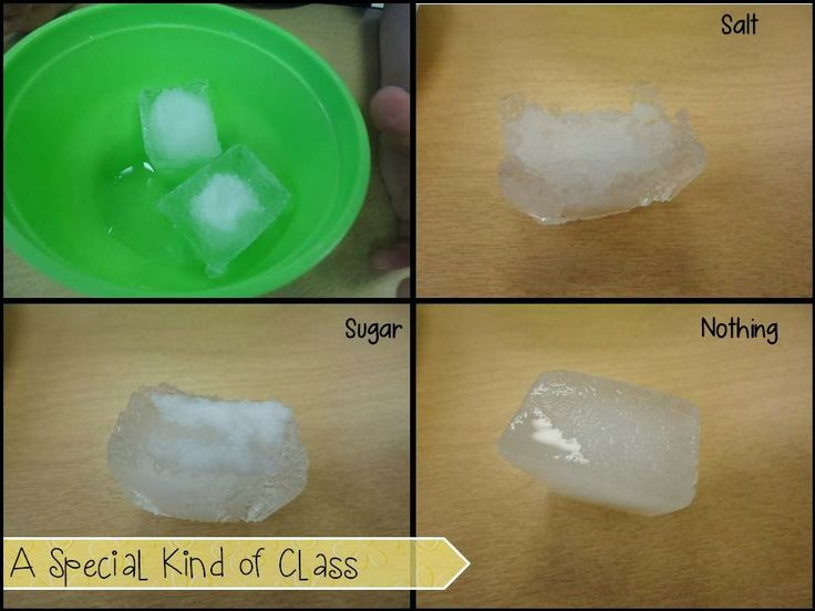 instructions to make salt ice