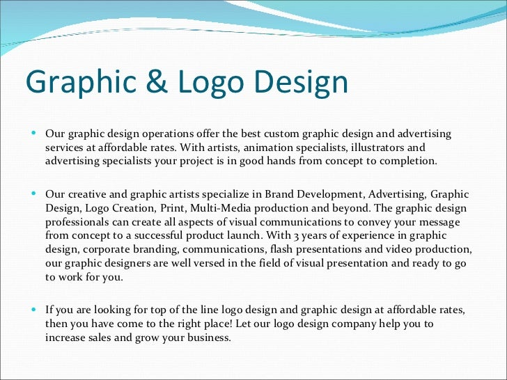 how to write a graphics company profile sample